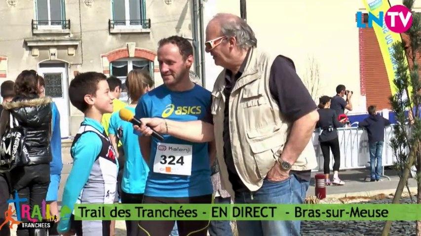 Valentin et Yannick, coureur du 12 km - Trail des Tranchées 2014