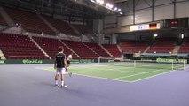 Coupe Davis, France-Allemagne : le premier entraînement des Bleus