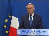 Municipales 2014: les quinze secondes de blanc de Jean-Marc Ayrault - 30/03