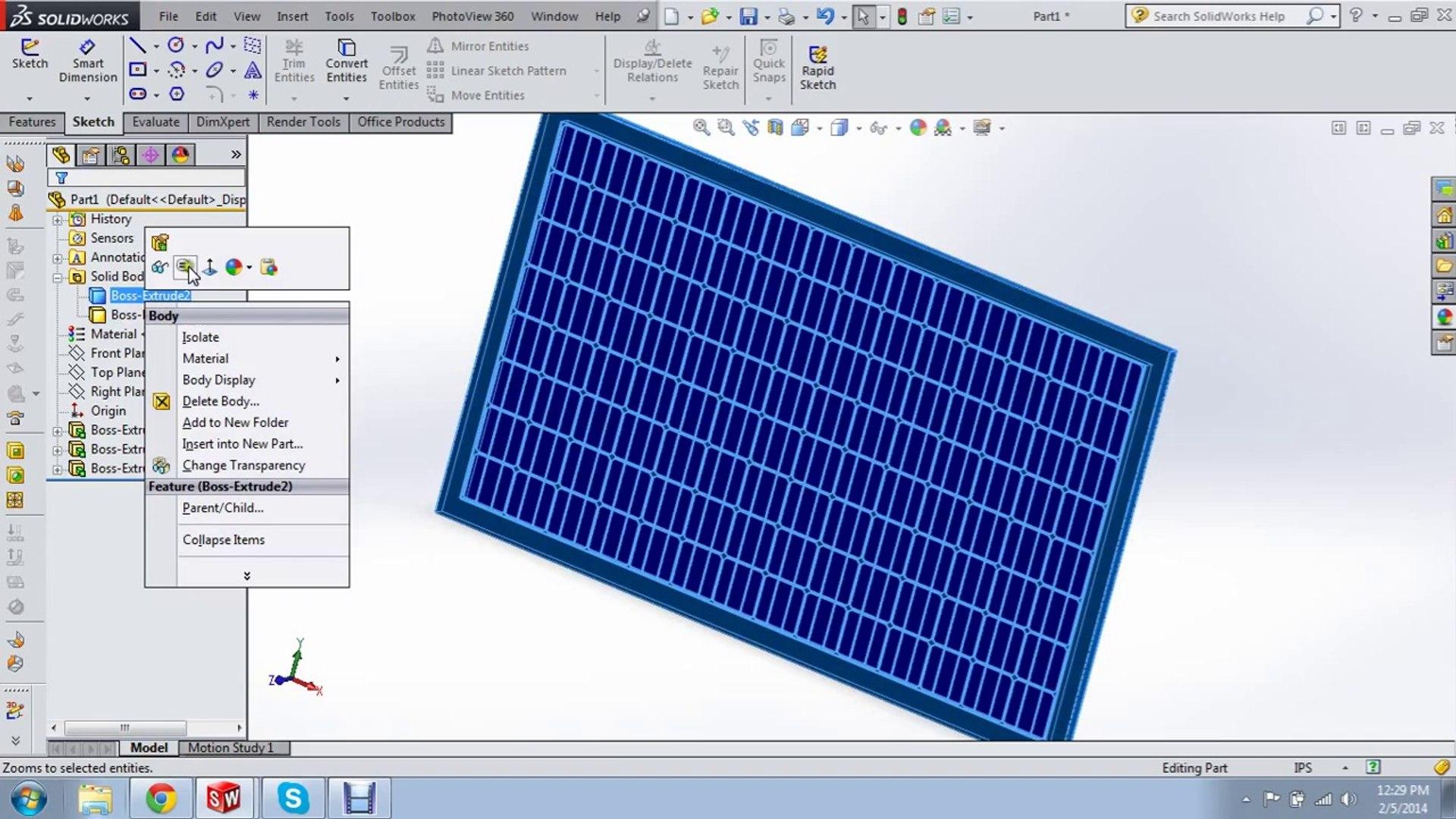 Solar Panel Solidworks Tutorial