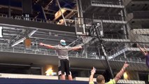 Crazy Basket ball Trick Shots  with the Final Four by Dude Perfect