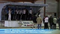 Récompenses, Super 16 féminin, Sport-Boules, Nyons 2014