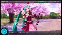 初音ミク -プロジェクト ディーヴァ- F 2nd (Easy Playthrough part 20) Song 19  Sakura No Ame