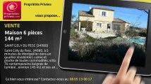 A vendre - maison - SAINT GELY DU FESC (34980) - 6 pièces - 144m²