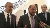 Rencontre entre Harlem Désir et Martin Schulz le 4 avril