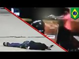 Robbers shot and killed by shop owner with gun in Brazil: GRAPHIC SECURITY FOOTAGE