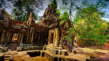 4K Mystic Angkor Temple Tilt Shift TimeLapse From Cambodia with The Sergent ( Electro pop Rock )