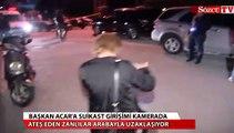 Başkan Acar'a suikast girişimi kamerada