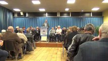 Municipales Avranches 2014 - meeting de Guénhaël Huet - 21 mars 2014 - questions réponses