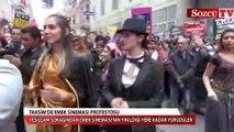 Taksim'de Emek Sineması protestosu