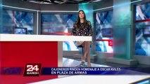 Artistas y amigos lamentaron la partida de don Óscar Avilés