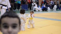 Young girls first Judo fight! Hilarious and so so cute!