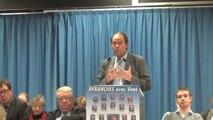 Municipales Avranches 2014 - meeting de Guénhaël Huet - 21 mars 2014 - discours
