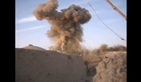 Big Bomb Falling From The Sky - Bomb Explosion