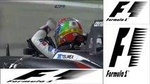 Formule 1 - Crash entre Maldonado et Gutierrez - Grand Prix de Bahreïn 2014
