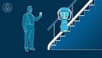 Een traplift van ThyssenKrupp Encasa kunt u ook gebruiken om voorwerpen naar een andere etage te vervoeren.