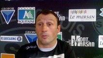 réaction de Christophe LAUSSUCQ après le match Stade Montois - Aurillac