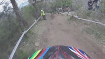 High Speed Downhill MTB CRASH - Training DH Gassin