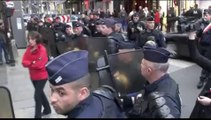 Exclusif Paris ( France) 02-04-2014 Interpellation et arrestation d'un attroupement d'une personne