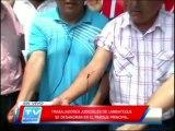 Chiclayo: Trabajadores judiciales se desangran en parque principal 07 04 14