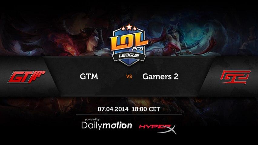 Gamers2 -vs- GTM Game #2 - LPL Season 1 ENG