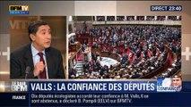 Le Soir BFM: Discours de politique générale: Manuel Valls obtient la confiance des députés - 08/04 1/2