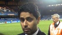 Nasser Al Khelaifi revient en zone mixte après PSG-Chelsea (2-0)