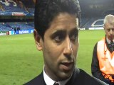 PlanetePSG.com : Le Président Nasser Al Khelaifi revient en zone mixte après l'élimination du PSG contre Chelsea (2-0)
