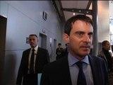Arrivée de Manuel Valls à BFMTV-RMC pour Bourdin Direct - 09/04