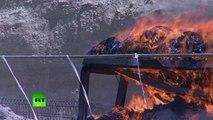 Drugs Inferno: Iran burns tons of narcotics