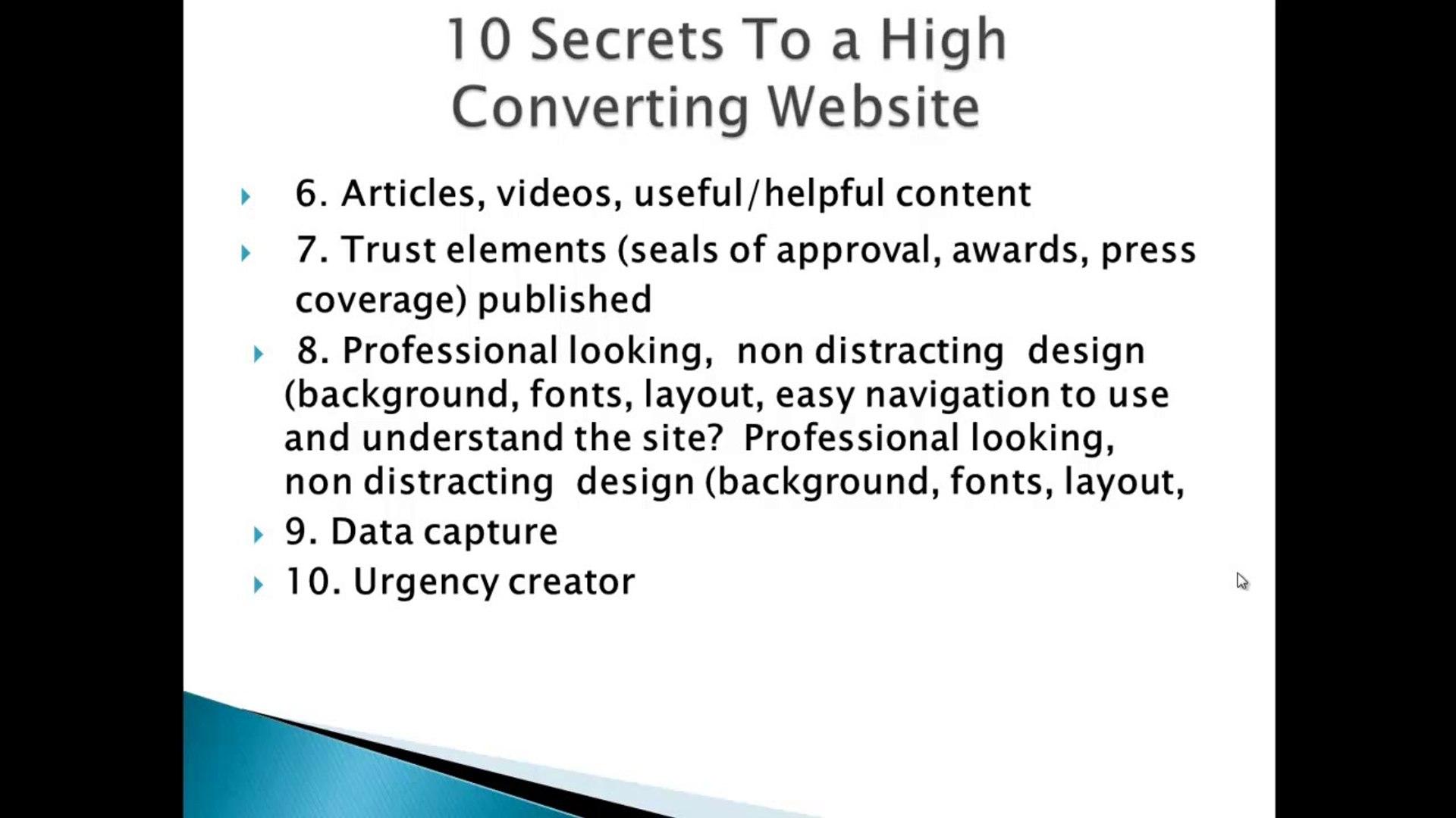 Dental Website Marketing - Top10 Website Conversion Tips Pt2
