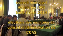 CM Avranches - 7 avril 2014 - Election des membres du conseil d'administration du CCAS