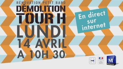 Démolition de la tour H, Petit Bard, Montpellier
