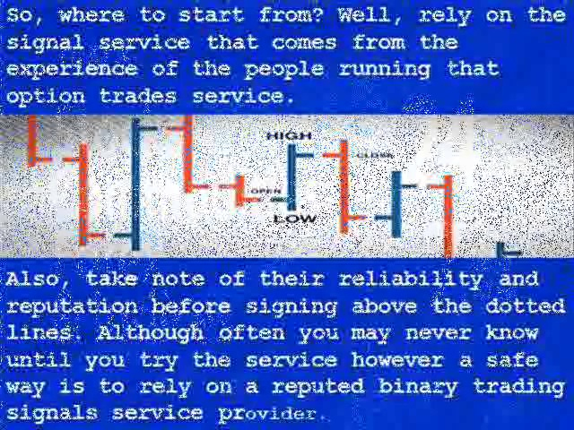 Binary options trading signals: learn how the market works