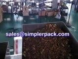 Chamomile tea packaging machinery, nylon triangle teabag packing machine
