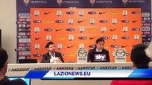 9.4.14- La conferenza stampa di Simone Inzaghi dopo la vittoria della Coppa Italia Primavera in Fiorentina-Lazio 2-4