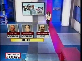 Delhi contenders list exclusively on Headlines Today