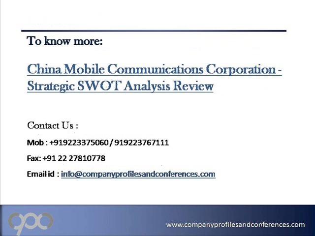 China Mobile Communications Corporation