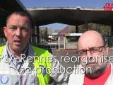 Réaction syndicats réorganisation production à Rennes PSA