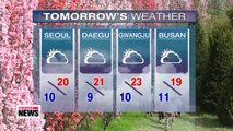 Perfect spring weather continues, but nationwide showers over weekend