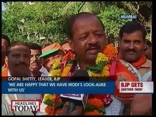 Modi's look alike campaigns for Modi in Mumbai