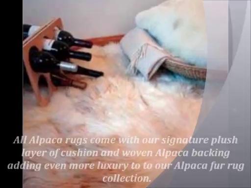 Beautiful Throw Rug From Alpaca Plush
