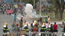 Brésil: Manifestation pendant la demi-finale de la Coupe des Confédérations