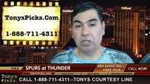 Game 6 NBA Pick Oklahoma City Thunder vs. San Antonio Spurs Odds Playoff Prediction Preview 5-31-2014