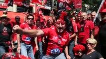 RCT-Castres : les supporters toulonnais entonnent le Pilou-Pilou