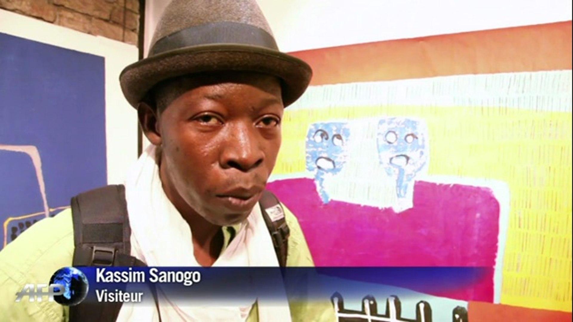 Portrait d'Amadou Sanogo, jeune peintre malien