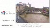 Zapping: la tempête Dirk sévit en France