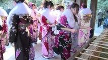 Au Japon, les Japonaises de 20 ans célèbrent leur passage à l'âge adulte