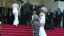 Tommy Lee Jones et Hilary Swank sur le tapis rouge de 'The Homesman'
