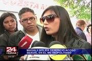 Magaly Solier exhortó a los ciudadanos denunciar cualquier tipo de acoso sexual